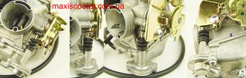 Ускорительный насос карбюратора KEIHIN серии CVK крупным планом.