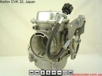 Обзор карбюратора Keihin CVK 32 в 2 ракурсах, 360 градусов с масштабированием.
